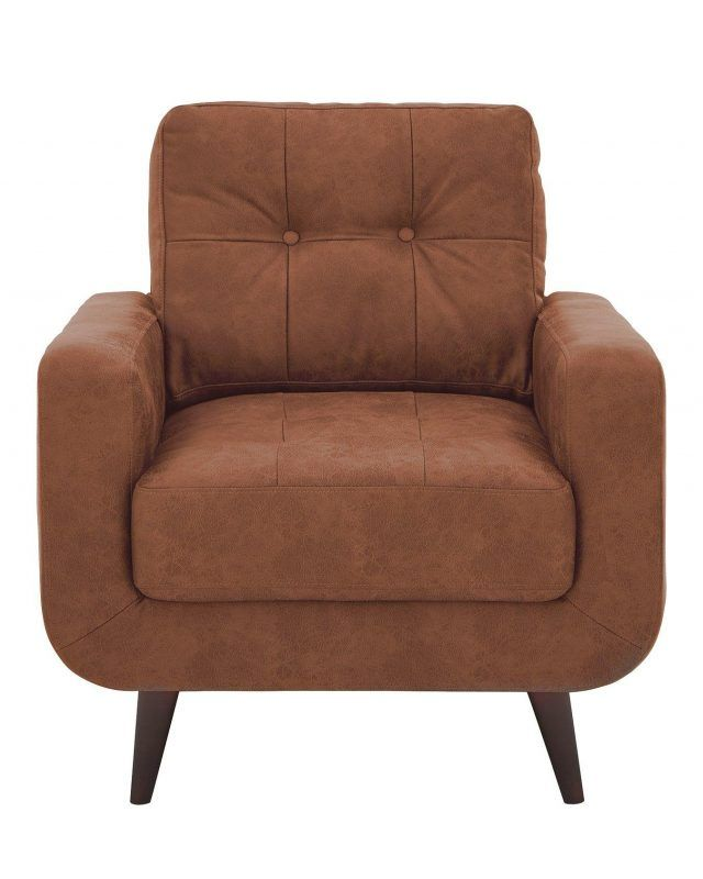 Tan faux leather armchair