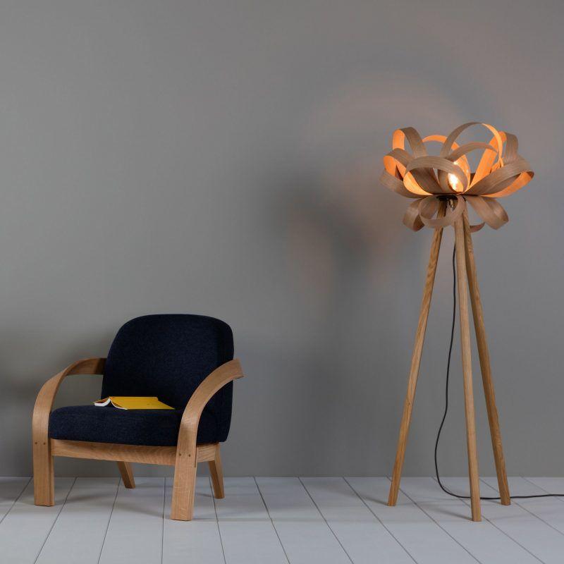 Designer tripod floor lamp