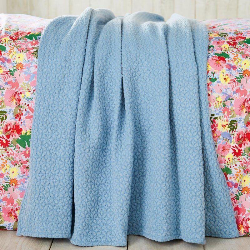 Blue textured pattern throw