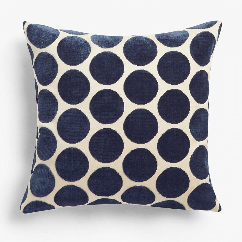 Indigo spot cushion