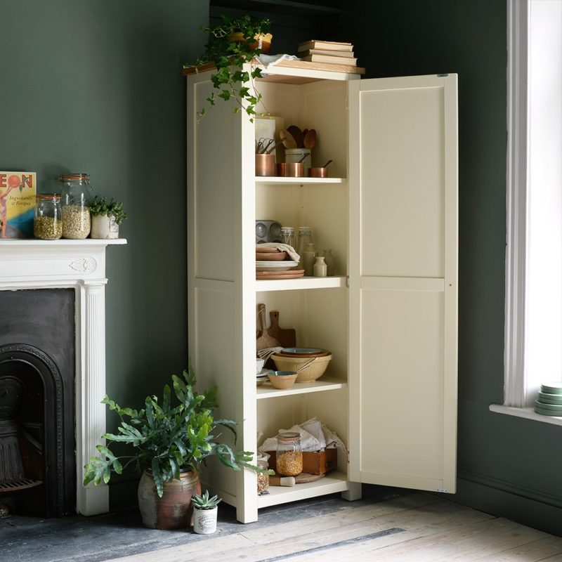 Cream-painted shaker style cupboard