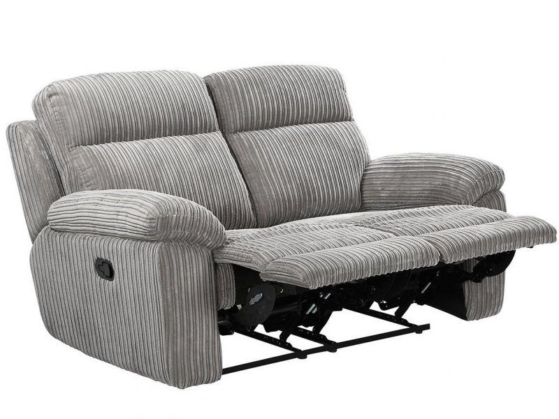 Cord fabric 2-seater recliner