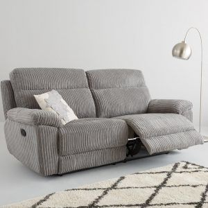 Cord fabric 3-seater recliner