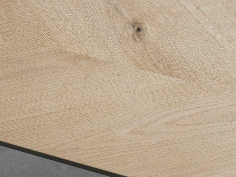 Chevron inlay table top