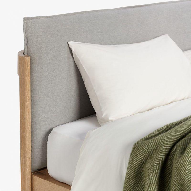 Grey pillow style headboard
