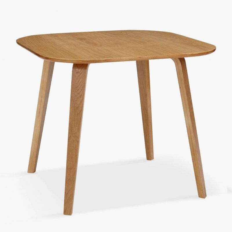 Beech plywood square dining table