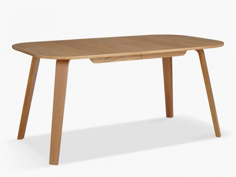 Birch plywood extending dining table