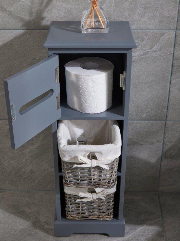 Grey 3-tier floor cabinet
