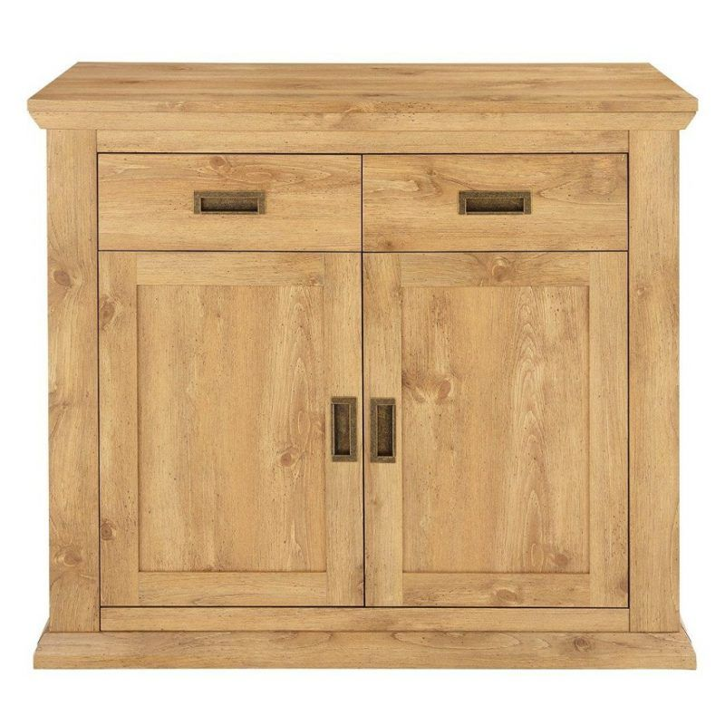 Rustic oak effect small sideboard