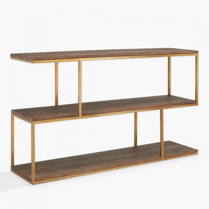 2-tier metal storage console unit