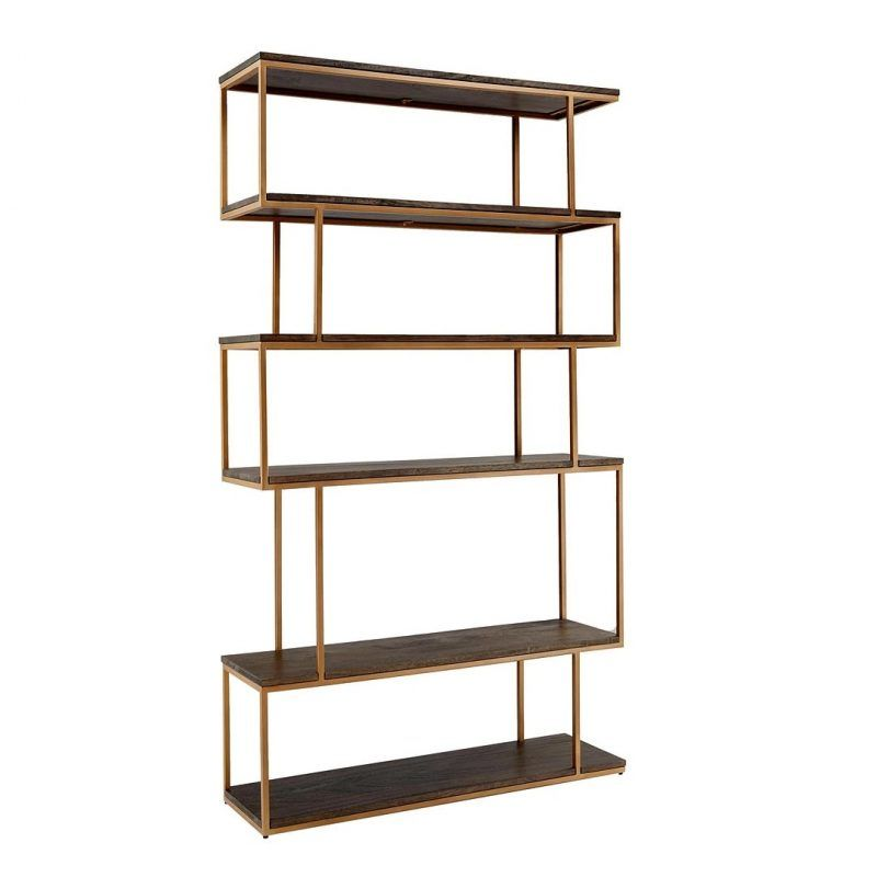 Wide 5-tier metal shelving unit