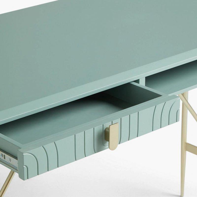 Green desk drawer