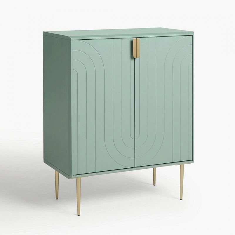 Green Art Deco-style cabinet
