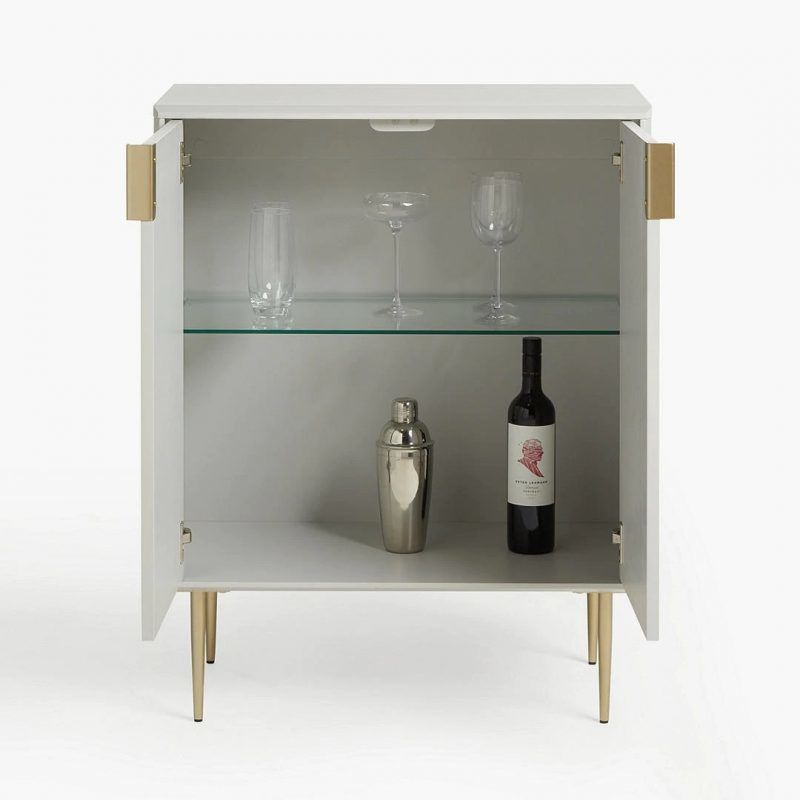 Grey drinks cabinet