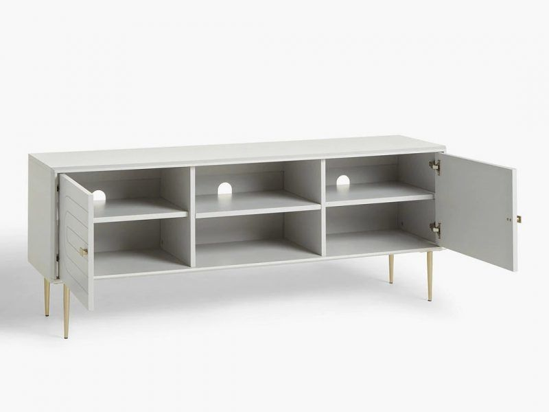 TV stand with 3 shelves