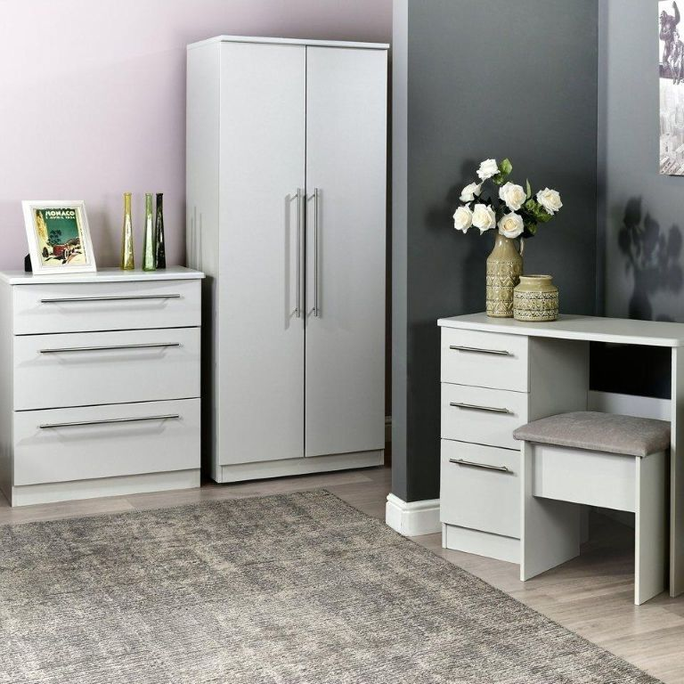 Verve Grey Gloss Bedroom Furniture