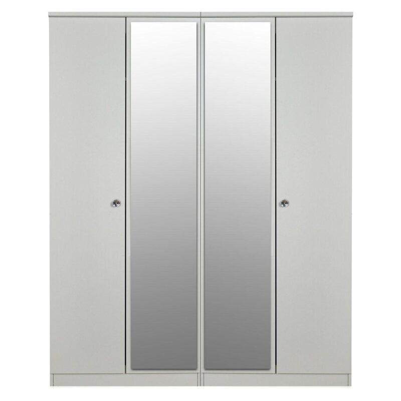 4 door wardrobe with 2 mirrored doors