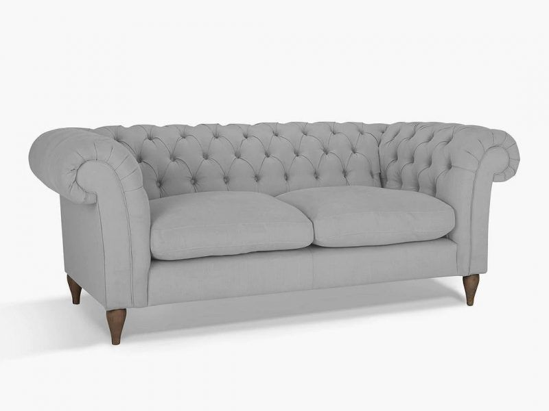 2 seater fabric upholstered Chesterfield