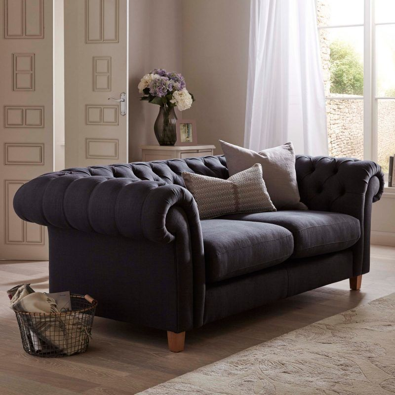 Fabric upholstered Chesterfield