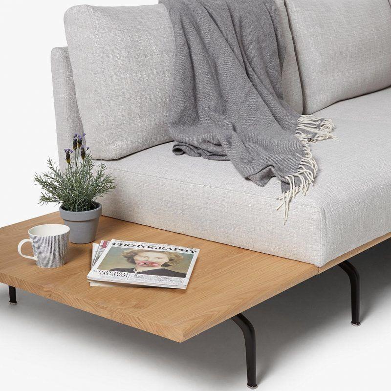 Platform sofa detail