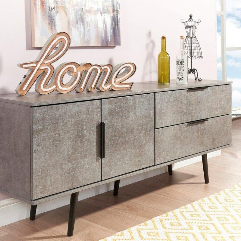 Grey sideboard unit