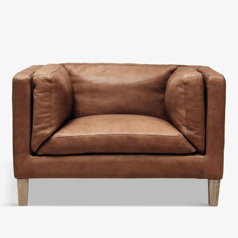 Halo Brown Leather Sofa