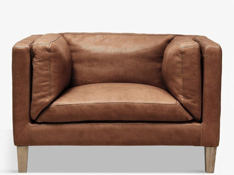 High arm leather sofa