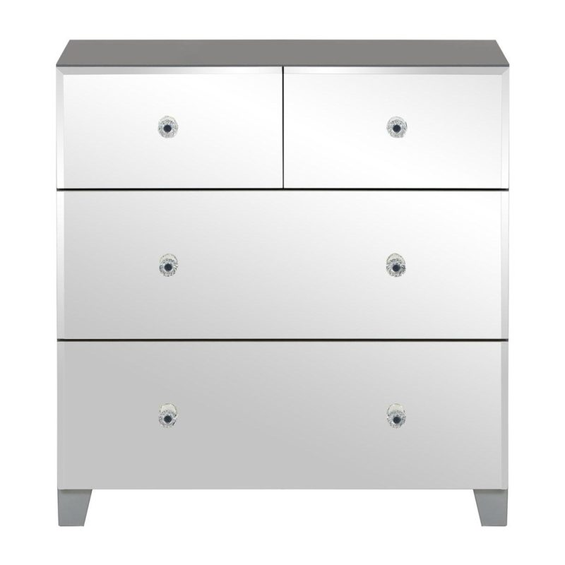 2 plus 2 drawer mirrored chest