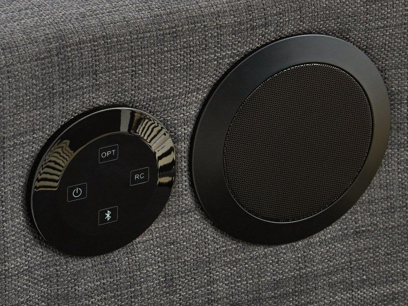 Built-in speakers and controls