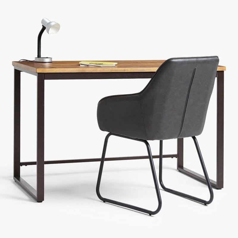 Rustic pine and metal desk