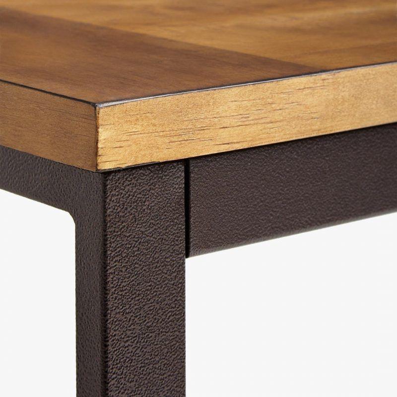 Pine top and metal frame
