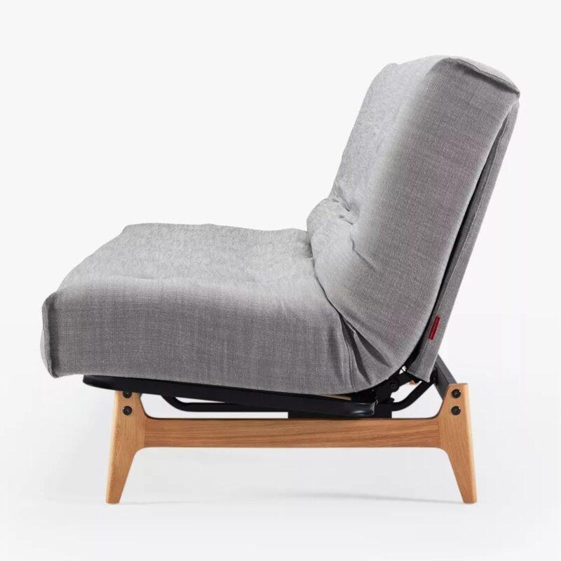 Grey linen fabric sofa bed