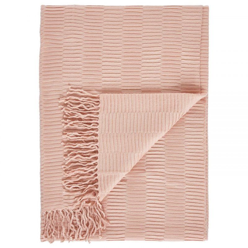 Blush pink throw