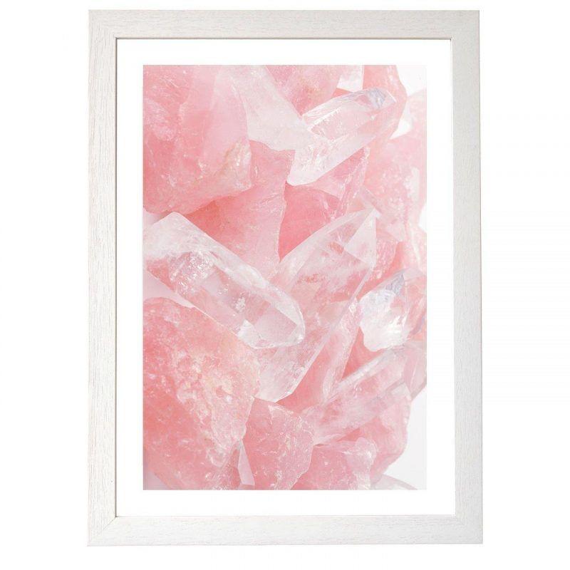 Pink quartz print