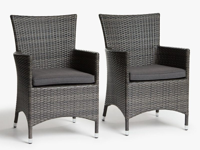 Pair of rattan dining chairs
