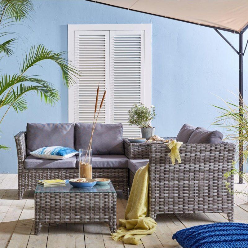 4-seater outdoor corner sofa