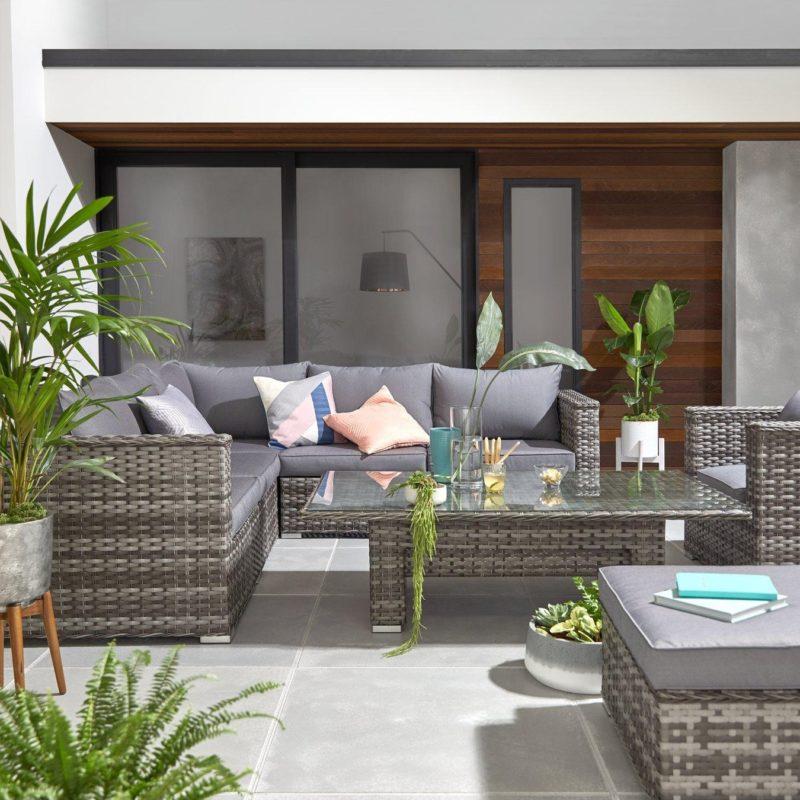 6 seater rattan garden set