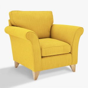 Mustard colour armchair