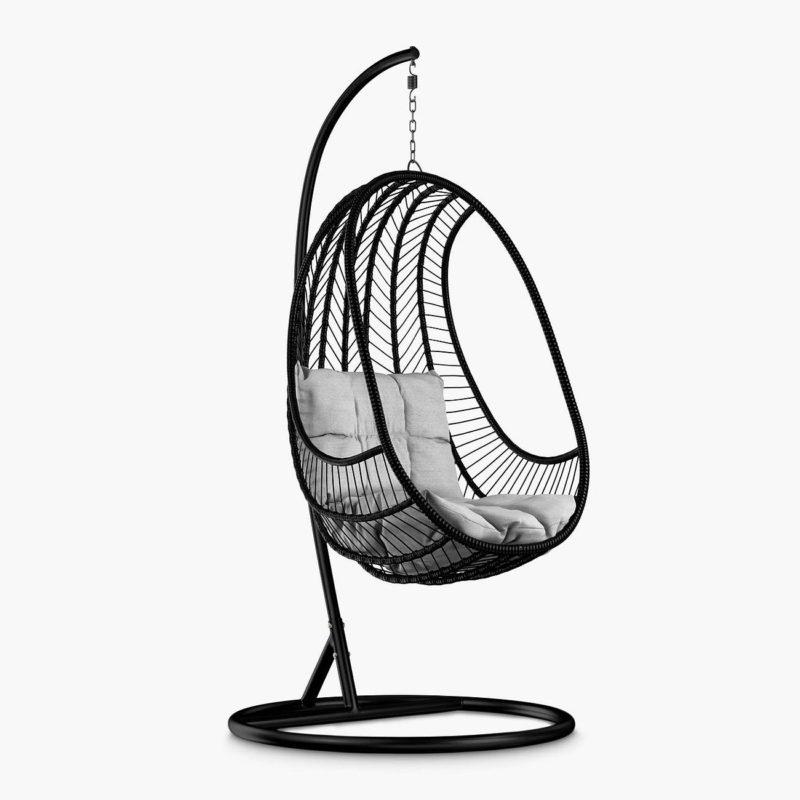 Black rattan swing seat