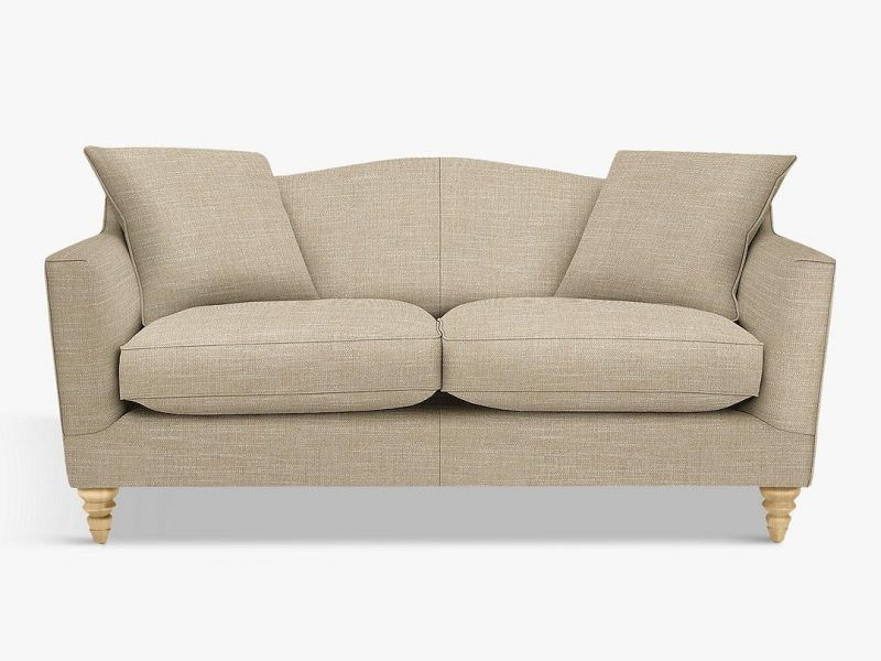 Fabric upholstered 2-seater sofa