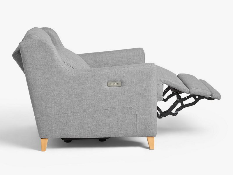 Reclining armchair side view