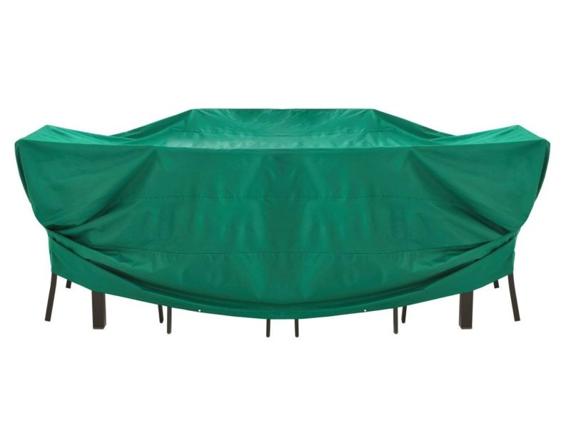 Large green outdoor furniture cover