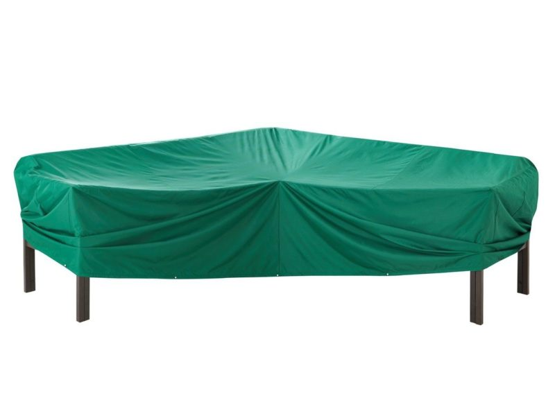 Green medium garden furniture corner cover