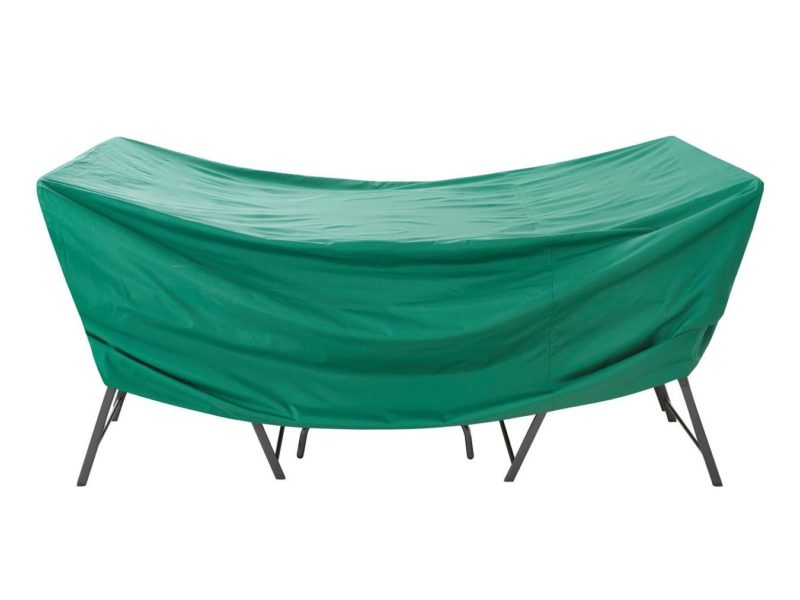 Forest green garden furniture cover