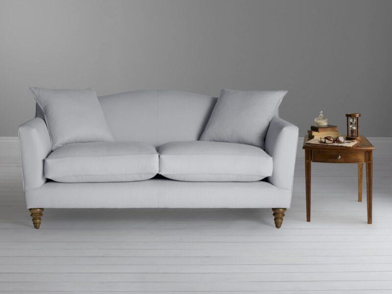 Grey fabric upholstered sofa