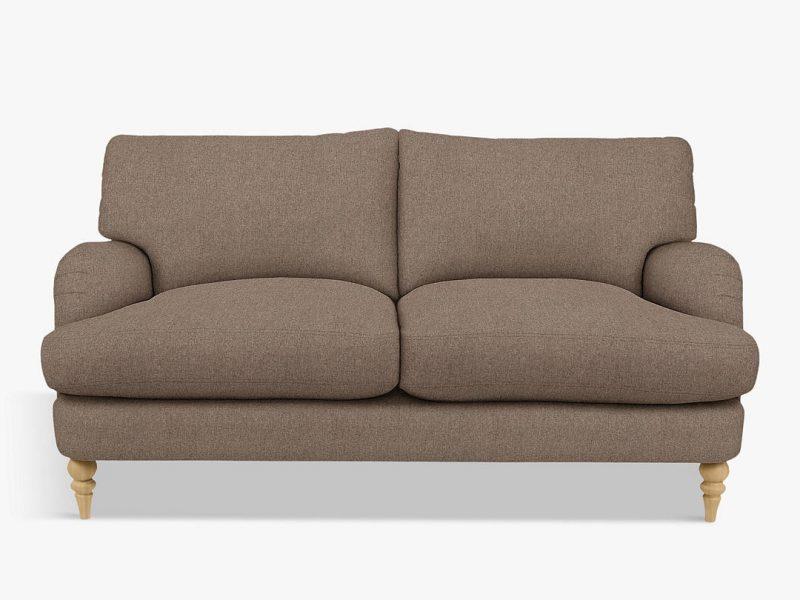 Natural coloured 2-seater sofa