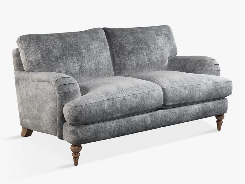 Grey fabric 2-seater sofa
