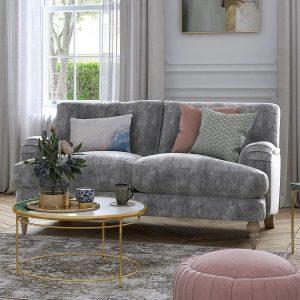 Large grey fabric sofa