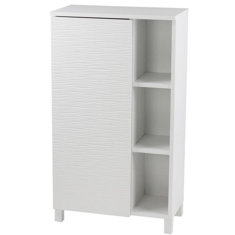 White floor cabinet with shelves