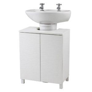 White under sink cabinet